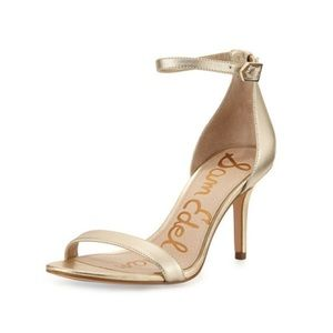 Sam Edelman Patti Ankle Strap Sandal in Gold